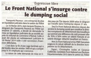 article peureux dumping social